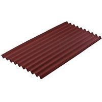 Onduline 3mm Red Corrugated Bitumen Sheet - 950mm x 2000mm