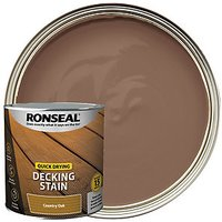 Ronseal Country Oak Quick Drying Decking Stain - 2.5L