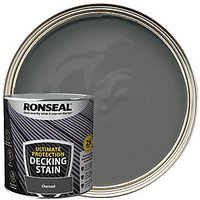 Ronseal Ultimate Protection Charcoal Decking Stain - 2.5L