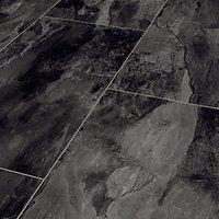 Dark Grey Slate Moisture Resistant Tile Effect Laminate Flooring - 2.28m2