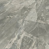 Light Grey Slate Moisture Resistant Tile Effect Laminate Flooring - 2.28m2