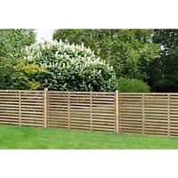 Forest Garden Single Slatted Fence Panel 6 x 3ft 5 Pack