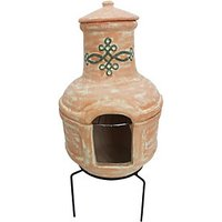 Charles Bentley Terracotta Clay Outdoor Chimenea with Bbq Grill - Small