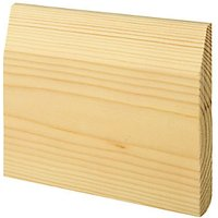 Chamfered / Bullnose Natural Pine Skirting - 19 x 144mm x 4.2m.