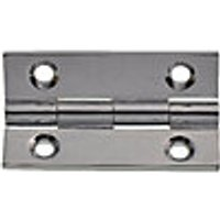 Wickes Butt Hinge - Solid Brass/Chrome 38mm Pack of 2