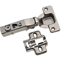 Wickes 110 Degree Clip On Concealed Cabinet Hinge - Nickel 35mm Pack of 2.