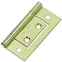 Wickes Flush Hinge - Brass 51mm Pack of 2