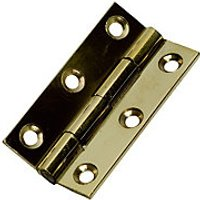 Wickes Butt Hinge - Solid Brass 51mm Pack of 2