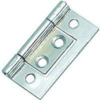 Wickes Flush Hinge - Chrome 38mm Pack of 2