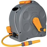 Hozelock 2415 2 in 1 Compact Enclosed Reel with Hose Pipe - 25m.