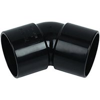 FloPlast WS19B Solvent Weld Waste 135 Deg Bend   Black 40mm