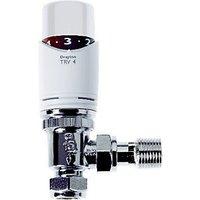 Drayton TRV4 White Angled TVR Valve   15mm