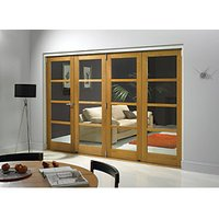 Wickes Belgrave Fully Glazed Oak 4 Lite Internal BiFold 4 Door Set - 2074mm x 2990mm