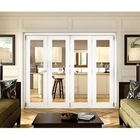 Wickes Belgrave White Fully Glazed 1 Lite Internal Bi-Fold 4 Door Set - 2074mm x 2990mm