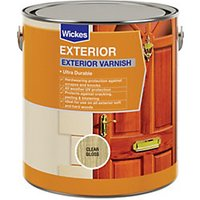 Wickes Exterior Varnish - Clear Gloss 750ml
