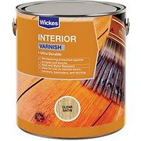 Wickes Interior Varnish - Clear Satin 2.5L