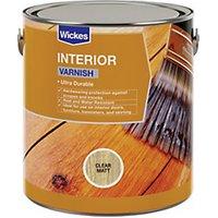 Wickes Interior Varnish - Clear Matt 750ml