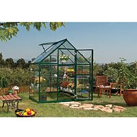 Palram 6 x 4 ft Harmony Green Aluminium Apex Greenhouse with Polycarbonate Panels