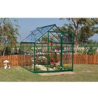 Palram 6 x 8 ft Harmony Green Aluminium Apex Greenhouse with Clear Polycarbonate Panels