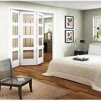 Wickes Ashton Internal Folding Door White Glazed 4 Lite 3 Door 2047mm x 1929mm