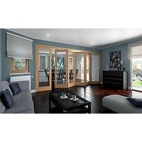 Wickes Ashton Internal Folding Door Oak Veneer Glazed 1 Lite 6 Door 2047 x 3771mm