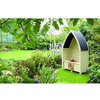 Rowlinson Winchester Gothic Garden Arbour - 1390 x 705 mm