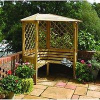 Rowlinson Balmoral Corner Trellis Garden Arbour - 1580 x 1580 mm