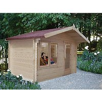 Shire Challock 12 x 10ft Log Cabin including Overhang
