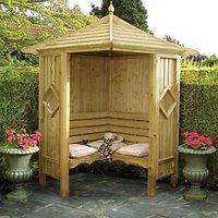 Wickes Corner Garden Arbour - 1250 x 1250 mm