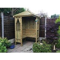 Wickes Honeysuckle Corner Garden Arbour - 1250 x 1250 mm