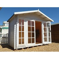 Shire Epping Double Door Log Cabin with Overhang - 10 x 8 ft with Assembly