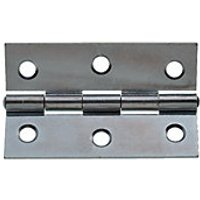 Wickes Butt Hinge - Zinc Plated 76mm Pack of 2