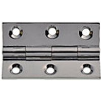 Wickes Butt Hinge - Solid Brass Chrome Plated 51mm Pack of 2