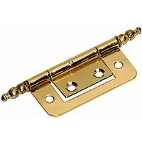 Wickes Finial Hinge - Brass 51mm Pack of 2