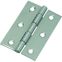 Wickes Butt Hinge - Stainless Steel 76mm Pack of 2