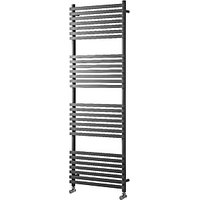 Wickes Invent Square Anthracite Heated Towel Rail Radiator - 1186 x 500mm.