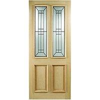 Wickes Malton External Oak Door Glazed 2 Panel - 2032 x 813mm