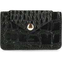 Schwarzes Portemonnaie mit Krokomuster