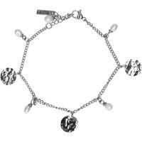 Silbernes Armband mit Anhängern