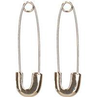Goldene Sicherheitsnadel-Ohrringe