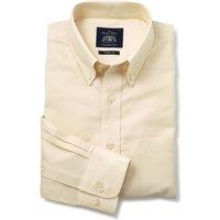 Yellow Button-Down Oxford Shirt S Standard.