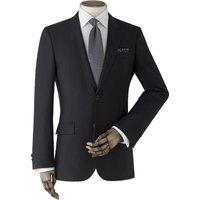 Black Wool-Blend Suit Jacket 48 Regular.