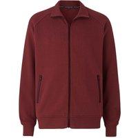 Burgundy French-Rib Cotton Zipped Sweatshirt XL at The Savile Row Company