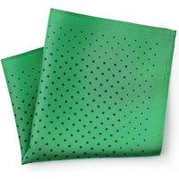 Green Irregular Spot Silk Pocket Square