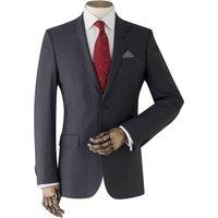 Grey Wool-Blend Suit Jacket 46 Short.
