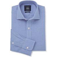 Blue Puppytooth Slim Fit Shirt - Single Cuff 16 1/2