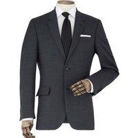 "Dark Grey Wool-Blend Tailored Suit Jacket 40"" Regular"