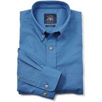 Denim Blue Button-Down Oxford Shirt S Lengthen by 2
