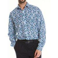 Floral Print Linen-Blend Shirt S Standard