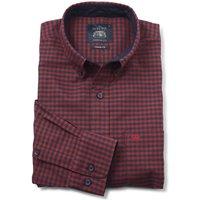 Navy Red Gingham Oxford Shirt XXL Standard